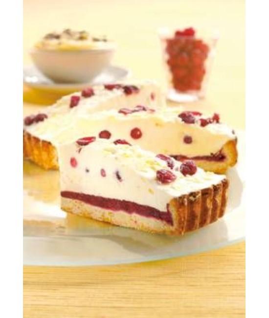 Бруснично-кремовый пирог