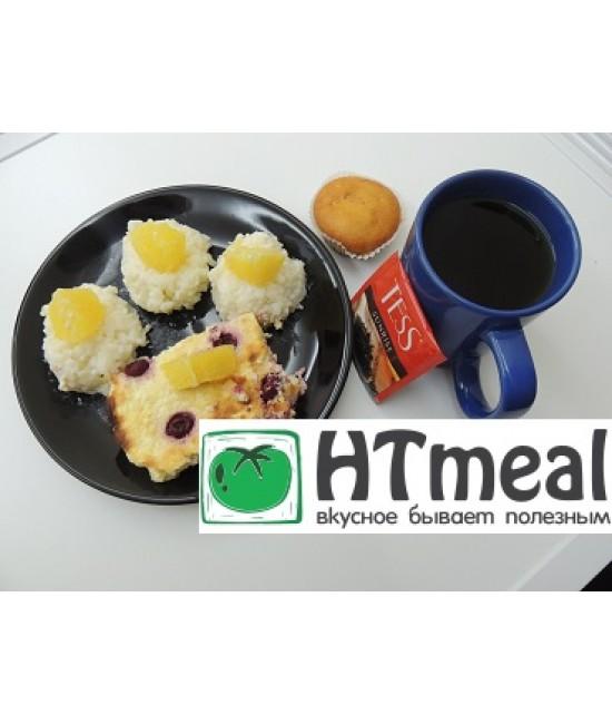 Комплексный завтрак с овсянкой и творожной запеканкой