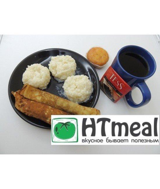 Комплексный завтрак с омлетом и запеканкой