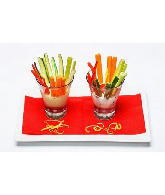 Вега блюда - овощные палочки с легким соусом